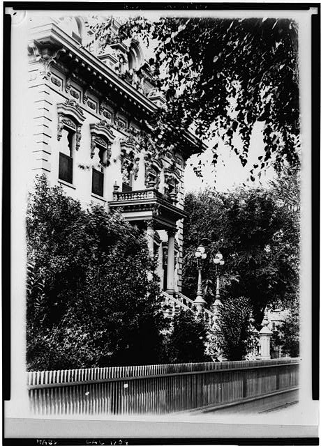 6.  Photocopy of circa 1886 photograph in Society of California Pioneers Collection. NORTH FRONT, LOOKING WEST - Leland Stanford House, 800 N Street, Sacramento, Sacramento County, CA