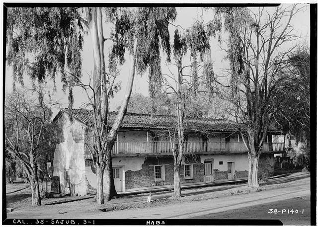 1.  Historic American Buildings Survey Roger Sturtevant, Photographer Feb. 16, 1934 NORTH ELEVATION (FRONT) - General Jose Castro House, Mission Plaza, San Juan Bautista, San Benito County, CA