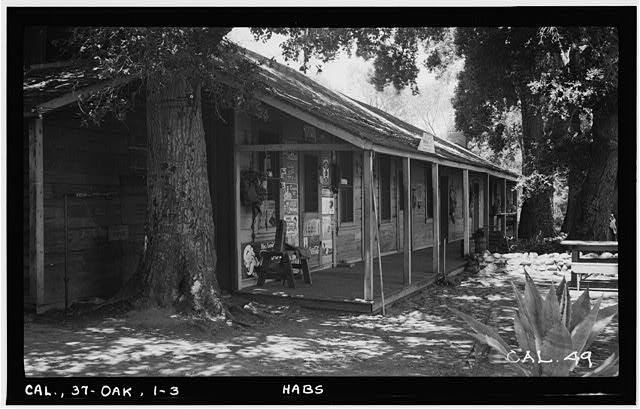 3.  Historic American Buildings Survey Photographed by Henry F. Withey June 1937 VIEW FROM NORTHEAST. - Butterfield Stage Station, Oak Grove, San Diego County, CA