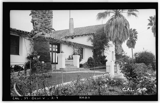 7.  Historic American Buildings Survey Photographed by Henry F. Withey May 1937 DETAIL OF N. W. FRONT. - Casa del Rancho Santa Margarita y Los Flores, U.S. Highway 101, Oceanside, San Diego County, CA