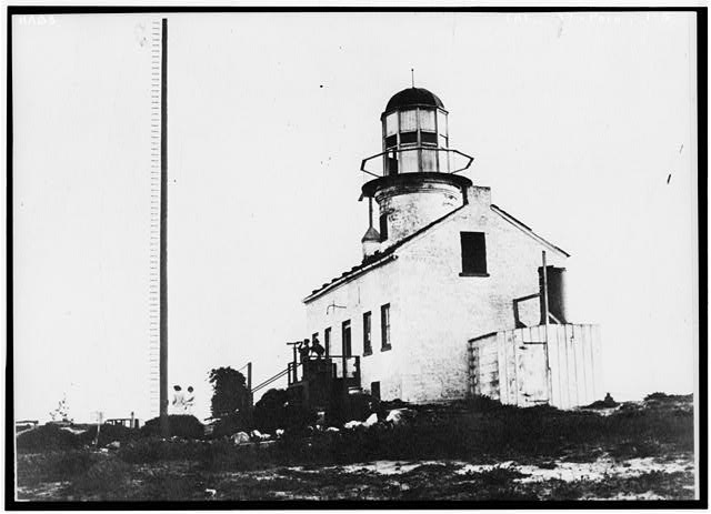 5.  Historic American Buildings Survey (copy) Taken 3rd Decade of Present Century NORTH END AND EAST FRONT OF LIGHTHOUSE - Point Loma Lighthouse No. 355, (moved), San Diego, San Diego County, CA