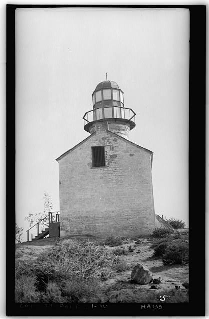 10.  Historic American Buildings Survey H. G. Fowler, Photographer Sept. 12, 1934 NORTH ELEVATION - Point Loma Lighthouse No. 355, (moved), San Diego, San Diego County, CA