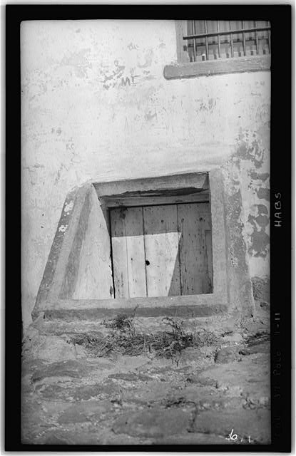 11.  Historic American Buildings Survey H. C. White, Photographer Dec. 6, 1934 BULKHEAD ON REAR ELEVATION (WEST) LEADING TO BASEMENT - Point Loma Lighthouse No. 355, (moved), San Diego, San Diego County, CA