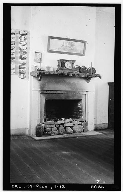 12.  Historic American Buildings Survey H. C. White, Photographer Dec. 6, 1934 LIVING ROOM MANTEL, LOOKING SOUTH - Point Loma Lighthouse No. 355, (moved), San Diego, San Diego County, CA