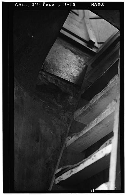 16.  Historic American Buildings Survey H. C. White, Photographer Dec. 6, 1934 HATCHWAY FROM TOWER ROOM TO LANTERN - Point Loma Lighthouse No. 355, (moved), San Diego, San Diego County, CA