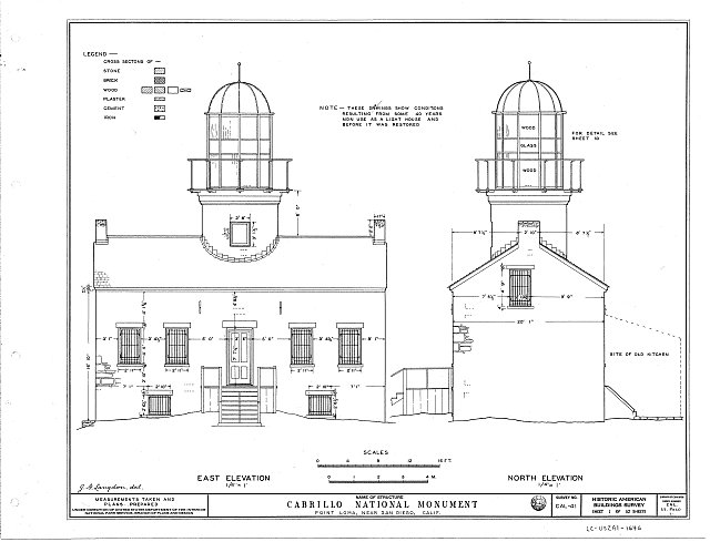 HABS CAL,37-POLO,1- (sheet 1 of 10) - Point Loma Lighthouse No. 355, (moved), San Diego, San Diego County, CA