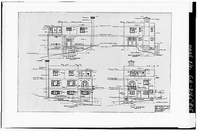 5.  ELEVATIONS - Albatross Cottages, Lee Cottage No. 1, 3367 Albatross Street, San Diego, San Diego County, CA