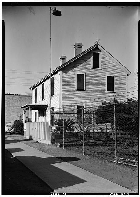 1.   October 1960 SOUTHWEST CORNER ELEVATION - William Heath Davis House, 227 Eleventh Avenue, San Diego, San Diego County, CA