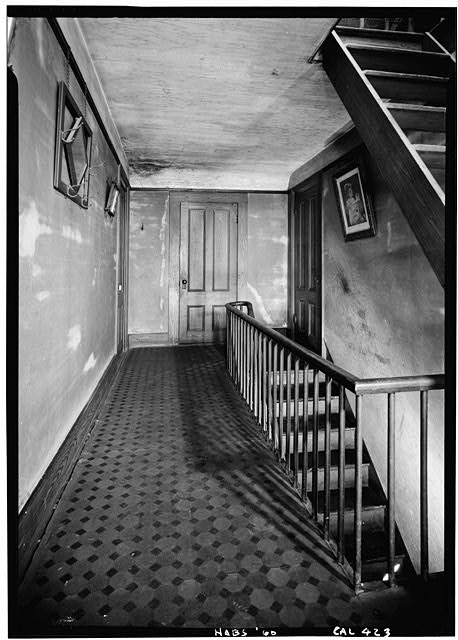 4.   October 1960 UPSTAIR HALL - William Heath Davis House, 227 Eleventh Avenue, San Diego, San Diego County, CA