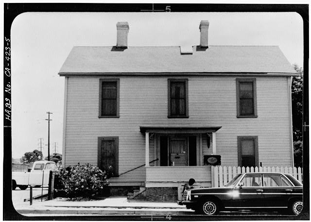 5.  WEST FRONT (photocopy of photograph taken by Kim Spurgeon, 1975). - William Heath Davis House, 227 Eleventh Avenue, San Diego, San Diego County, CA