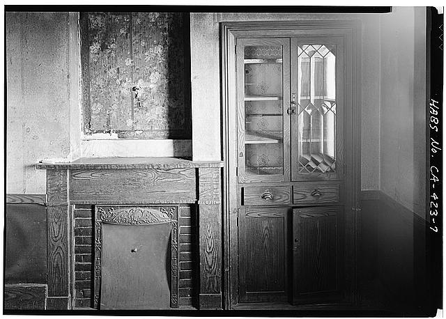 7.  DINING ROOM, FIREPLACE AND CABINET - William Heath Davis House, 227 Eleventh Avenue, San Diego, San Diego County, CA