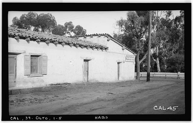 5.  Historic American Buildings Survey Photographed by Henry F. Withey June 1937 DETAIL OF NORTH ELEVATION - Jose Antonio Estudillo House, Mason Street & San Diego Avenue, Old Town, San Diego, San Diego County, CA