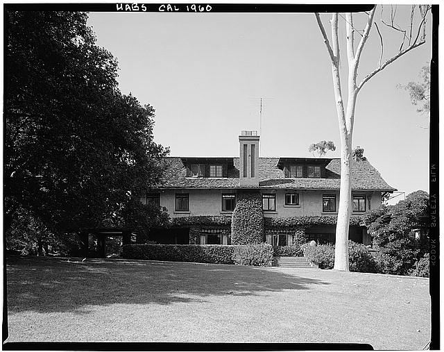 1.  Historic American Buildings Survey Marvin Rand, Photographer September 1971 SOUTH (FRONT) ELEVATION - George W. Marston House, 3525 Seventh Avenue, San Diego, San Diego County, CA