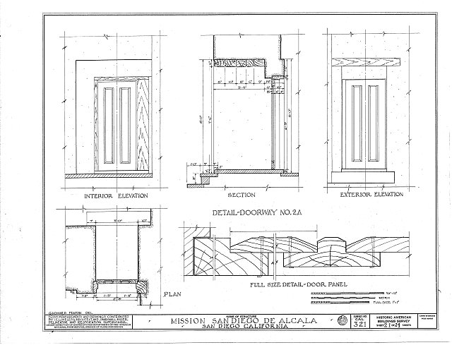 HABS CAL,37-SANDI,1- (sheet 21 of 24) - Mission San Diego de Alcala, Misson Valley Road, San Diego, San Diego County, CA