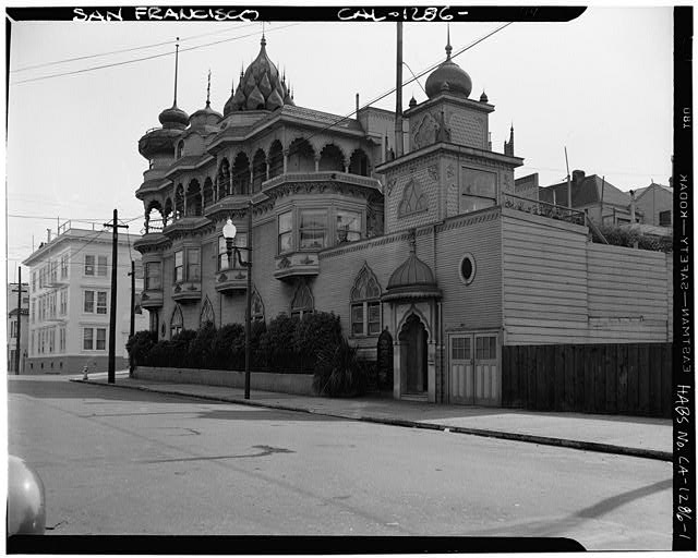 1.  EXTERIOR VIEW OF FRONT FROM FILBERT AND WEBSTER STS. - Hindu Society, 2963 Webster Street, San Francisco, San Francisco County, CA