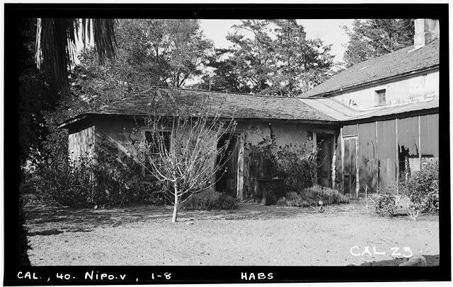 8.  Historic American Buildings Survey. Photographed by Henry F. Withey, September, 1936 SOUTH- EAST FACADE OF SOUTH-WEST WING - William G. Dana House, Guadalupe Road, Nipomo, San Luis Obispo County, CA