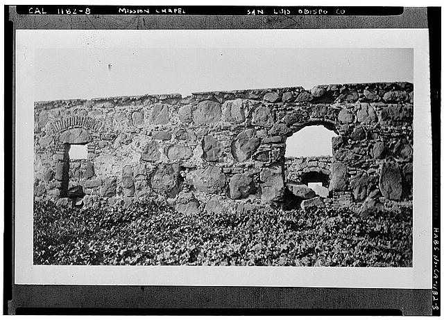 8.  EXTERIOR WALL WITH ARCHWAY AND WINDOW - Santa Margarita Asistencia, Santa Margarita, San Luis Obispo County, CA