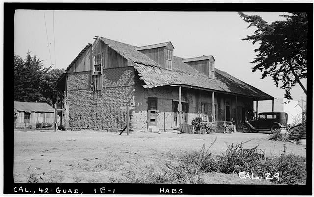1.  Historic American Buildings Survey Photographed by Henry F. Withey September, 1936 SOUTH AND WEST FRONT. HOUSE #2 - Guadalupe Rancho Adobes, Adobe No. 2, 120 Third Avenue, Guadalupe, Santa Barbara County, CA