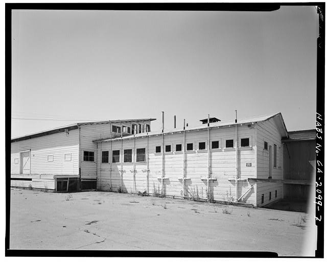 7.  SOUTHEAST VIEW OF EXTERIOR PIPES - Woelffel Cannery, 10120 Imperial Avenue, Monta Vista, Santa Clara County, CA