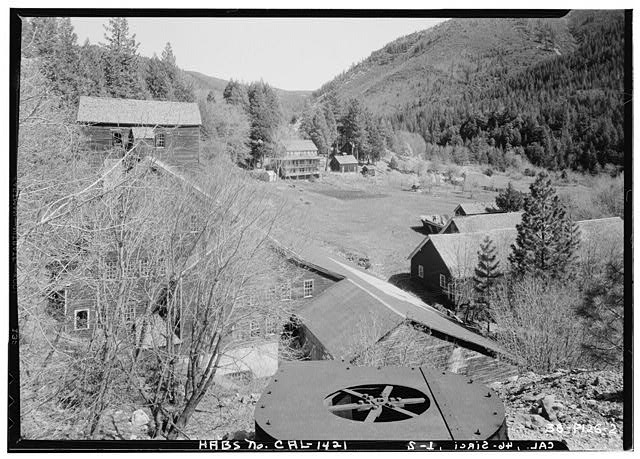 2.  Historic American Buildings Survey Roger Sturtevant, Photographer Mar. 29, 1934 VIEW FROM SOUTH-WEST - Old Mine, Sierra City, Sierra County, CA