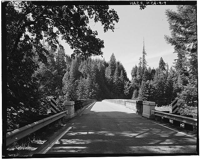 9.  Pete Asano, Photographer September 1981 VIEW WEST ALONG DECK - Van Duzen Bridge, Spanning Van Duzen River at State Highway 36, Carlotta, Humboldt County, CA