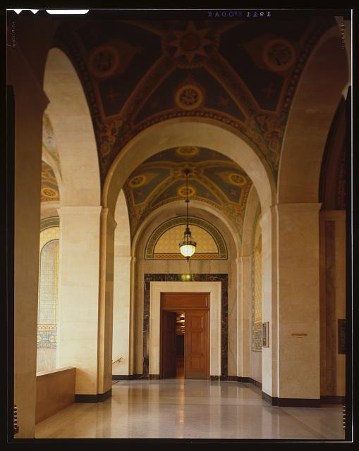 Monica Griesbach, Photographer August 1997. VIEW OF LOS ANGELES CITY HALL THIRD FLOOR SOUTH LOBBY, FACING WEST - Los Angeles City Hall, 200 North Spring Street, Los Angeles, Los Angeles County, CA