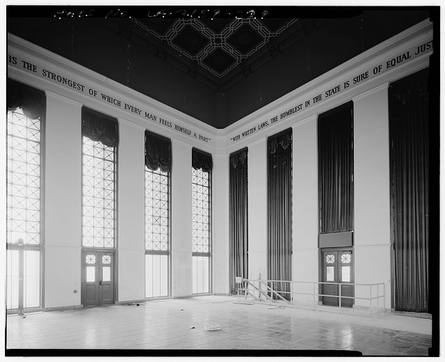 John Ash, AIA; Photographer August 1997. VIEW OF LOS ANGELES CITY HALL TWENTY-SEVENTH FLOOR TOWER RECEPTION ROOM, FACING SOUTHEAST - Los Angeles City Hall, 200 North Spring Street, Los Angeles, Los Angeles County, CA