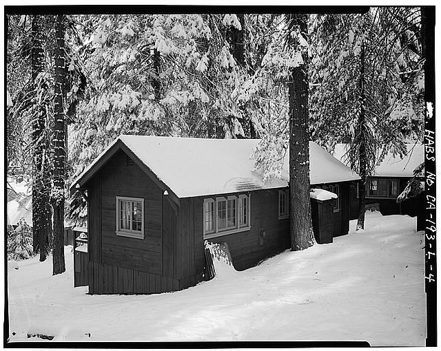 4.  EXTERIOR, WEST VIEW - Giant Forest Lodge Historic District, Cabin No. 27-28, Three Rivers, Tulare County, CA