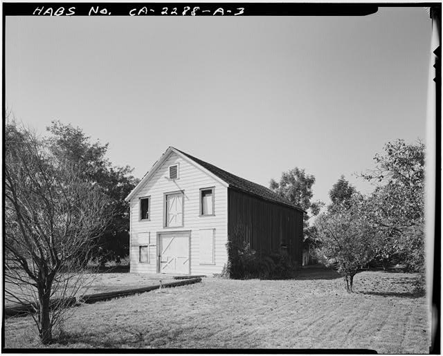 3.  VIEW OF CHAMPION BARN EAST FRONT AND NORTH SIDE, FACING SOUTHWEST - Champion House, Barn, 1357 Mowry Avenue, Fremont, Alameda County, CA