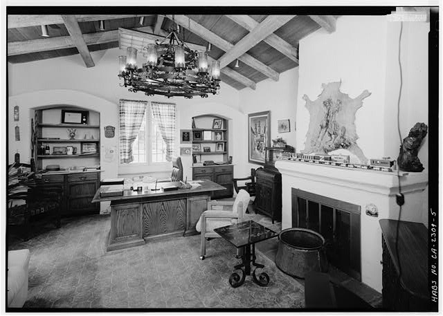 5.  INTERIOR, OFFICE (SOUTH) ROOM, LOOKING SOUTH - Joers-Ketchum Rowhouse, 6108 Paseo Delicias, Rancho Santa Fe, San Diego County, CA