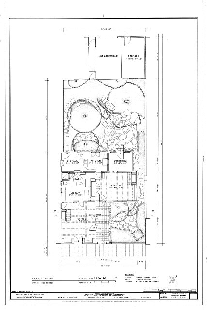 HABS CAL,37-RANSF,7- (sheet 1 of 2) - Joers-Ketchum Rowhouse, 6108 Paseo Delicias, Rancho Santa Fe, San Diego County, CA