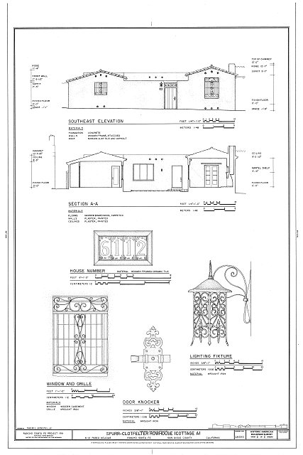 HABS CAL,37-RANSF,8- (sheet 2 of 2) - Spurr-Clotfelter Rowhouse, 6112 Paseo Delicias, Rancho Santa Fe, San Diego County, CA