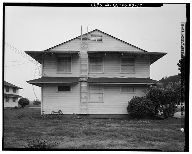 Building No. 903, west side - Presidio of San Francisco, Enlisted Men's Barracks Type, West end of Crissy Field, between Pearce & Maudlin Streets, San Francisco, San Francisco County, CA