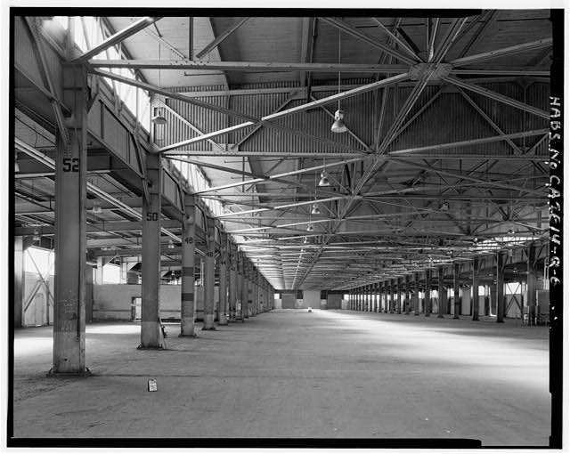 5.  INTERIOR, FROM APPROXIMATELY ONE-THIRD WEST OF EAST END, LOOKING WEST. - Oakland Naval Supply Center, Pier Transit Shed, Pier 4, Oakland, Alameda County, CA