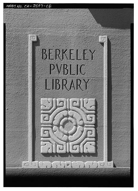 7.  WEST SIDE - Berkeley Public Library, 2090 Kittredge Street, Berkeley, Alameda County, CA