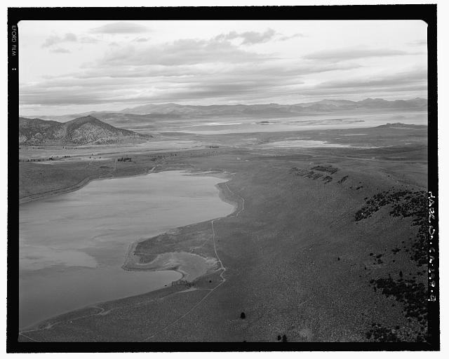 9.  GRANT LAKE AND MONO LAKE IN DISTANCE, LOOKING NORTHEAST - Los Angeles Aqueduct, From Lee Vining Intake (Mammoth Lakes) to Van Norman Reservoir Complex (San Fernando Valley), Los Angeles, Los Angeles County, CA