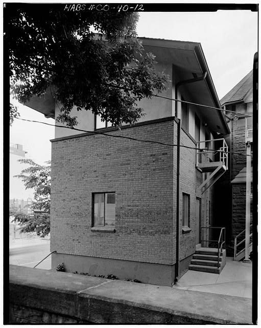 12.  WEST REAR OF MANSION LOOKING NORTHEAST - George Schleier Mansion, 1665 Grant Street, Denver, Denver County, CO