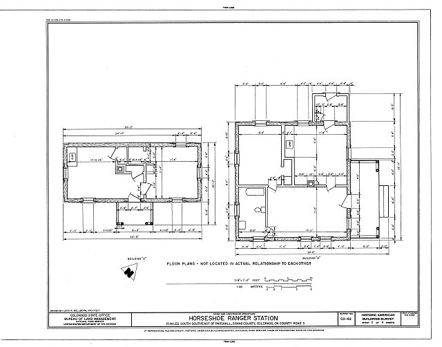 HABS COLO,25-PARS.V,1- (sheet 2 of 4) - Horseshoe Ranger Station, 15 miles South of Parshall, Parshall, Grand County, CO