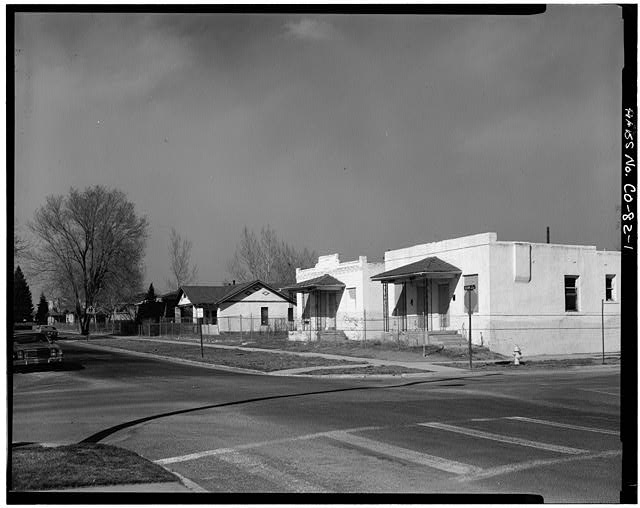 1.  VIEW OF HOUSE LOOKING NORTHEAST - Golda Meir House, 1606-1608 Julian Street (moved to 1301 South Lipan Street), Denver, Denver County, CO
