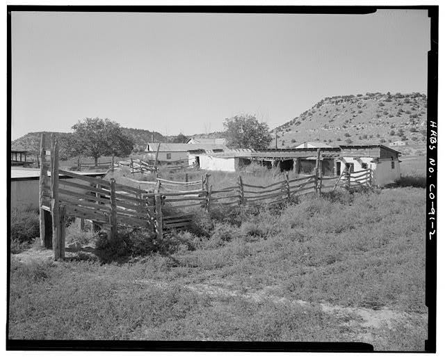 General view, looking west. - Eugene Rourke Ranch, 19 miles east of U.S. Highway 350, Model, Las Animas County, CO