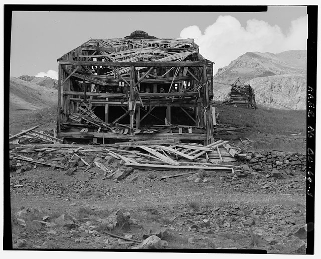 3.  EXTERIOR VIEW OF MILL FROM EAST. - Sound Democrat Mill, Placer Creek Valley, Silverton, San Juan County, CO