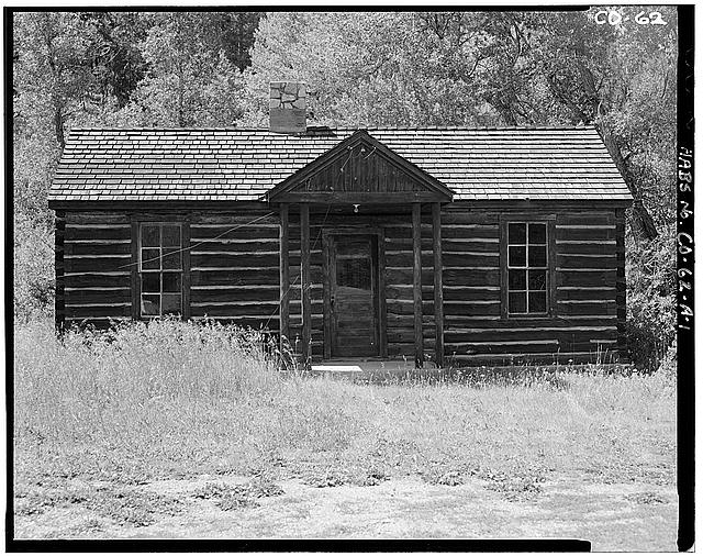 1.  VIEW OF FRONT, FACING NORTH, BUILDING A - Horseshoe Ranger Station, Building A, 15 miles South of Parshall, Parshall, Grand County, CO