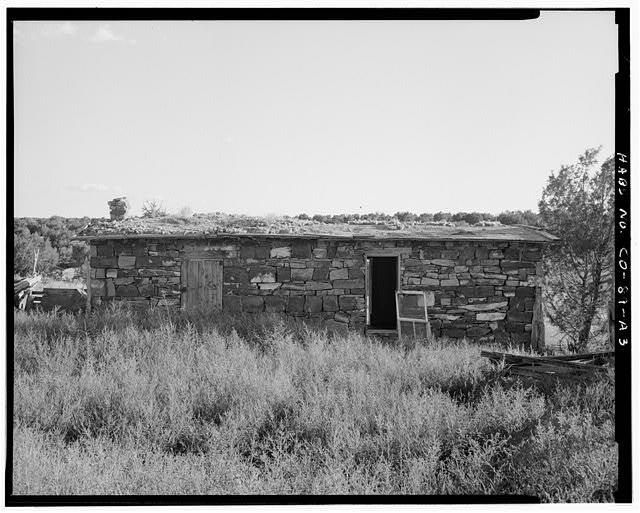 Marguerite Arnet Residence, rear, looking south. - Adam & Bessie Arnet Homestead, Marguerite Arnet Residence, 560 feet northeast of Adam & Bessie Arnet Residence, Model, Las Animas County, CO