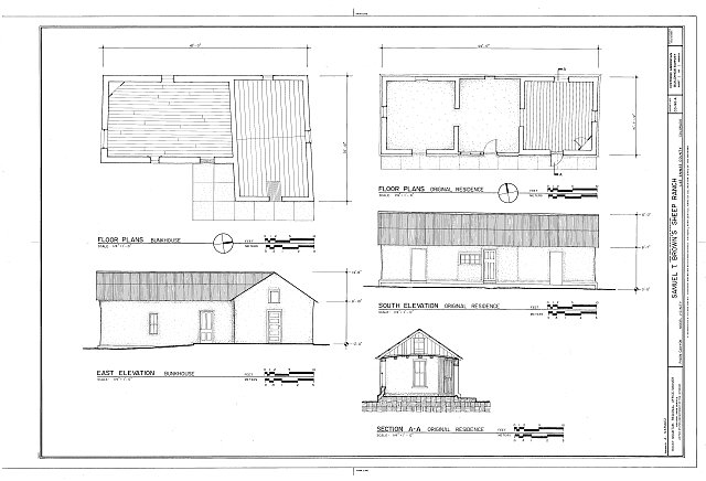 HABS COLO,36-MOD.V,2A- (sheet 1 of 1) - Samuel T. Brown's Sheep Ranch, Original Residence, 110 feet northwest of main residence, Model, Las Animas County, CO