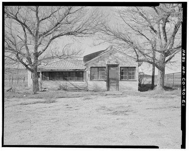 Main residence, front and east façade, looking west. - Samuel T. Brown's Sheep Ranch, Main Residence, 110 feet southeast of original residence, Model, Las Animas County, CO