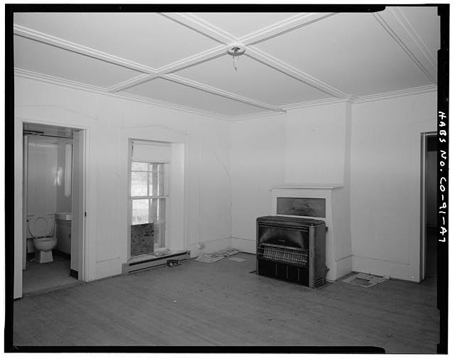 Residence, interior center room. - Eugene Rourke Ranch, Residence, 40 feet west of bunkhouse, Model, Las Animas County, CO