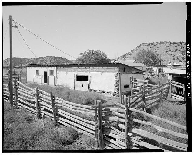 Barn, front and right side, looking west. - Eugene Rourke Ranch, Barn, 70 feet south of shed, Model, Las Animas County, CO