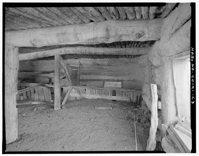 Log barn, interior. - Eugene Rourke Ranch, Barn, 70 feet south of shed, Model, Las Animas County, CO