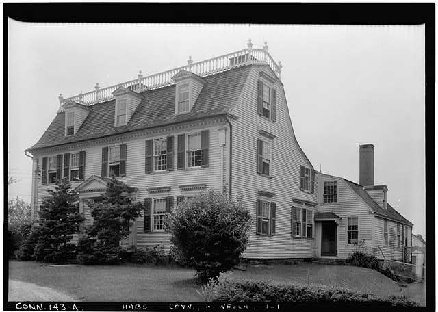 1.  Historic American Buildings Survey (Fed.) Stanley P. Mixon, Photographer July 17, 1940 (A) EXTERIOR, GENERAL VIEW FROM NORTH EAST - Colonel Henry Champion House, Colchester, New London County, CT