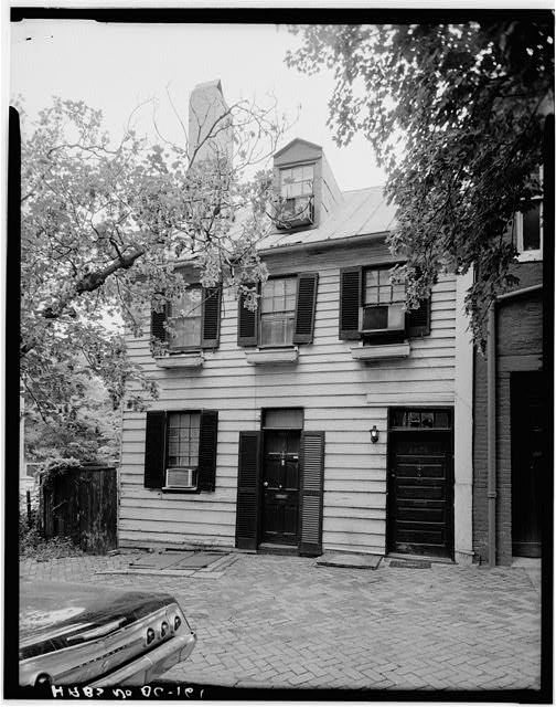 1.  Historic American Buildings Survey George Eisenman, Photographer Summer 1967 EAST FRONT ELEVATION - Adams-Mason House, 1072 Thomas Jefferson Street Northwest, Washington, District of Columbia, DC